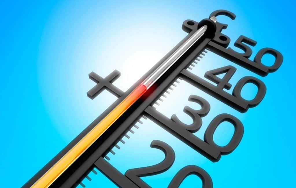 Hoogste temperatuur op maandag 22 juni: 41,3 graden in Huelva
