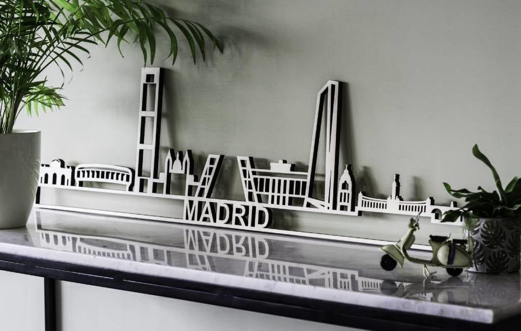 Plaats met City Shapes Spaanse steden of monumenten aan je muur