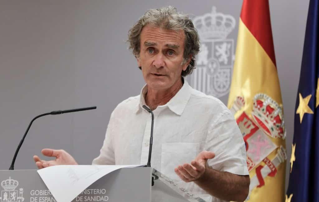 """Epidemioloog Fernando Simón: """"Beter dat Belgen en Britten niet naar Spanje komen"""""""