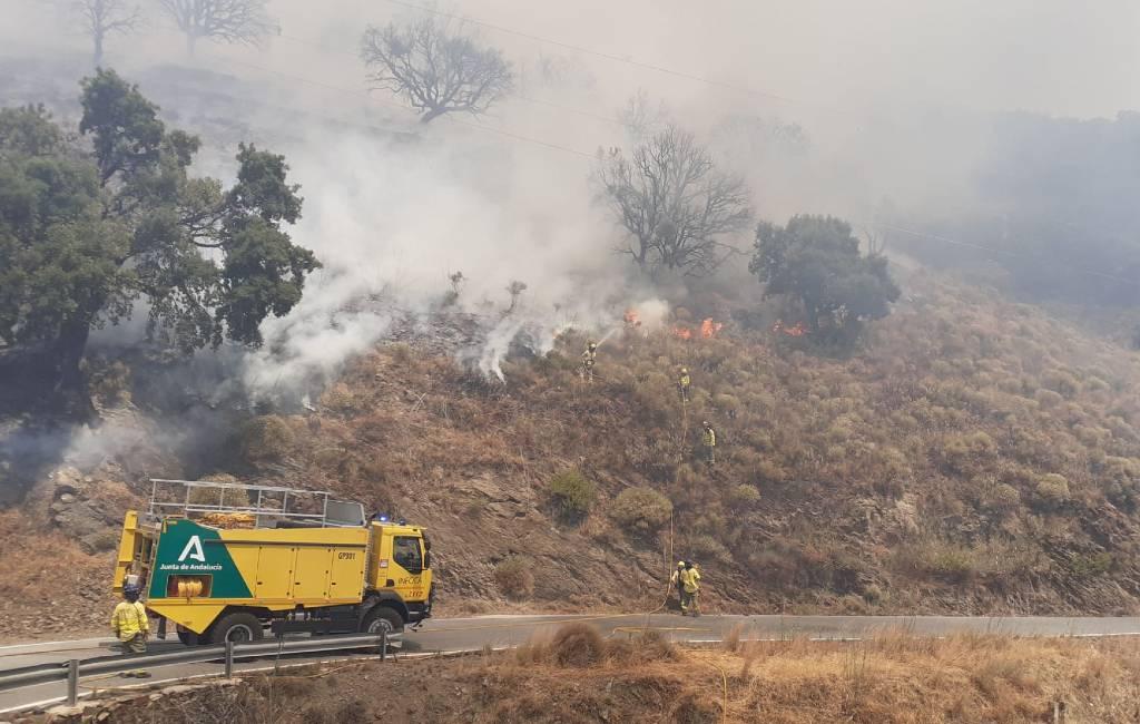 Natuur- en bosbrand in de buurt van Polopos in Granada