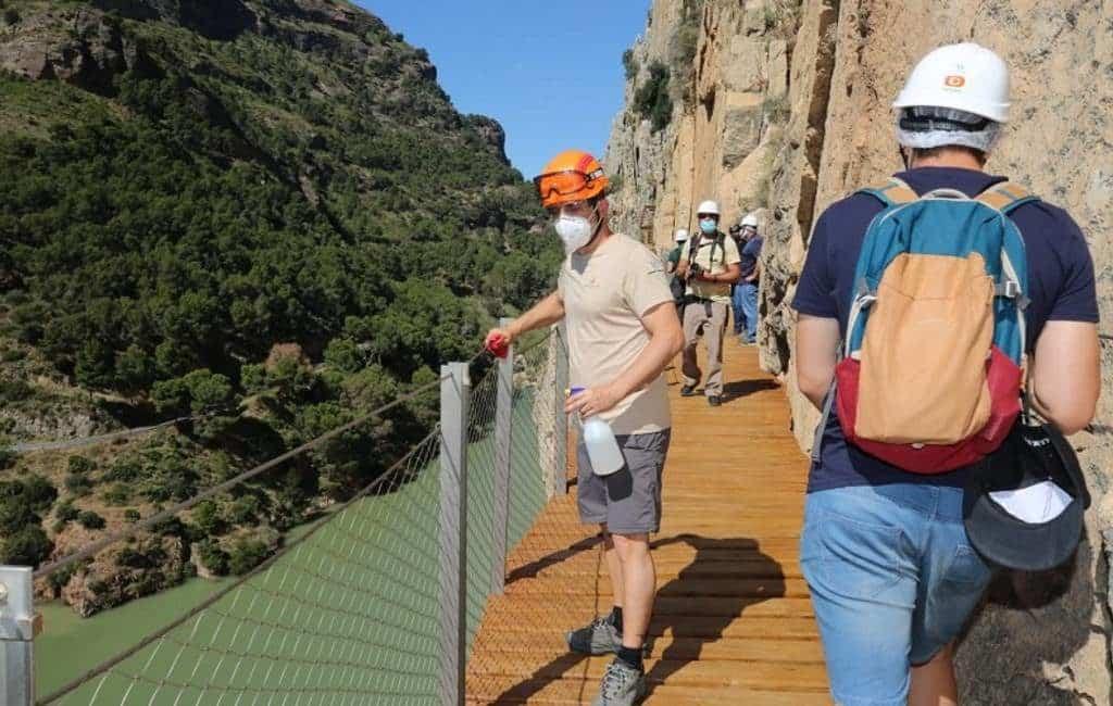 Bijna 15.500 bezoekers voor de Caminito del Rey in juli