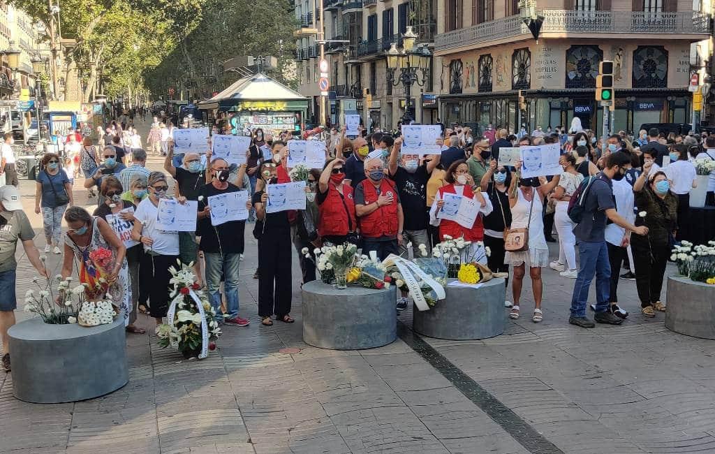Herdenking terroristische aanslagen Barcelona en Cambrils
