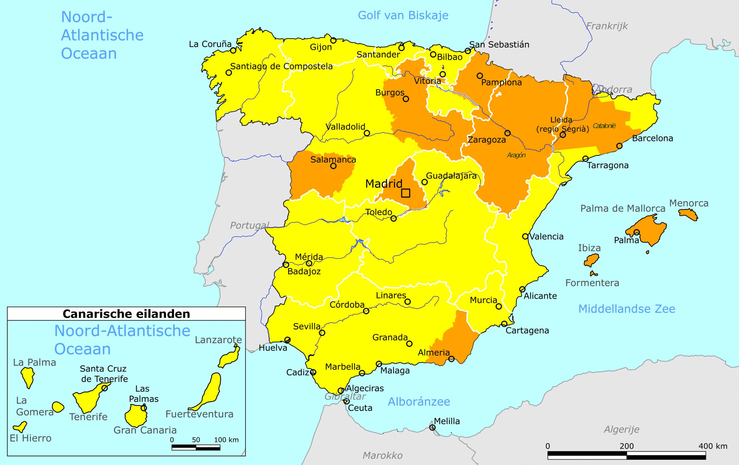 Nederland past reisadvies aan voor gebieden in Spanje (UPDATE)