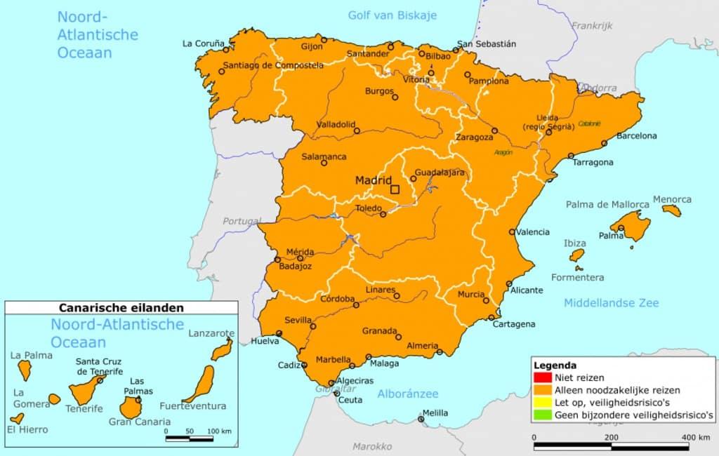 Wat gebeurt er nu na een Nederlands oranje reisadvies voor Spanje?
