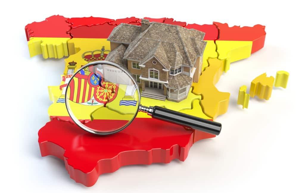 Kaart waar buitenlanders de meeste huizen zoeken in Spanje
