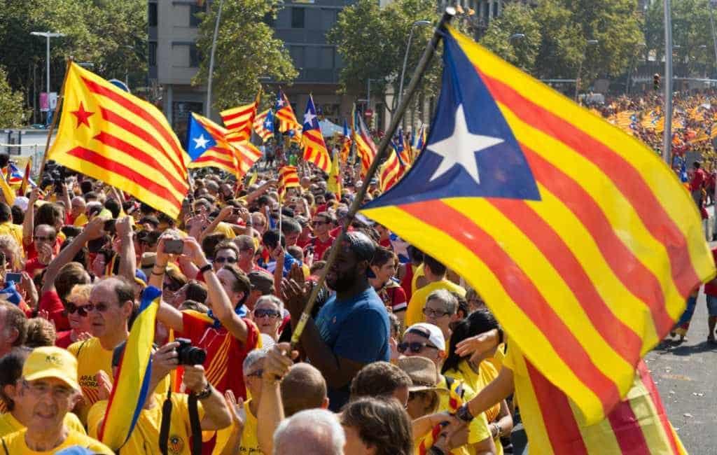 Ondanks corona toch La Diada bijeenkomsten in Catalonië