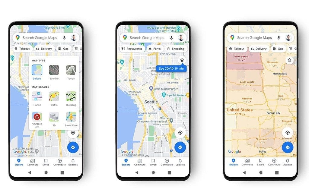 Google Maps gaat corona-brandhaarden aangeven in de Android en iOS app