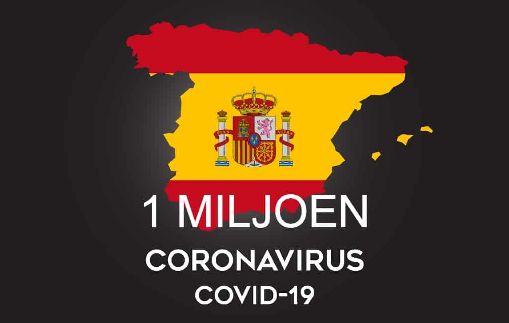 1 miljoen positief geteste personen in Spanje en meer dan 34.000 doden