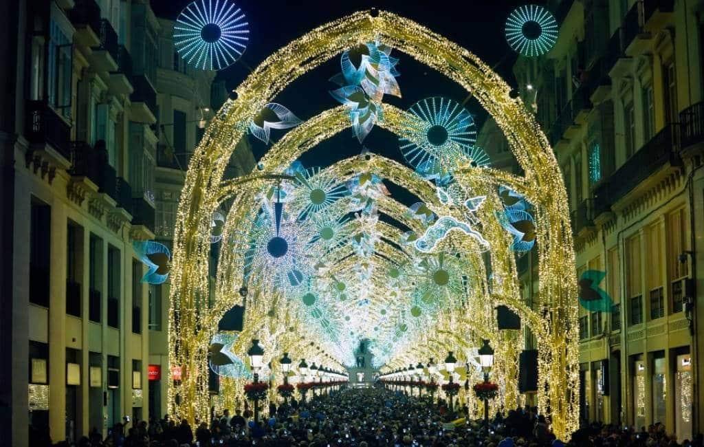 Kerstverlichting in Málaga op 27 november aan maar zonder spektakel