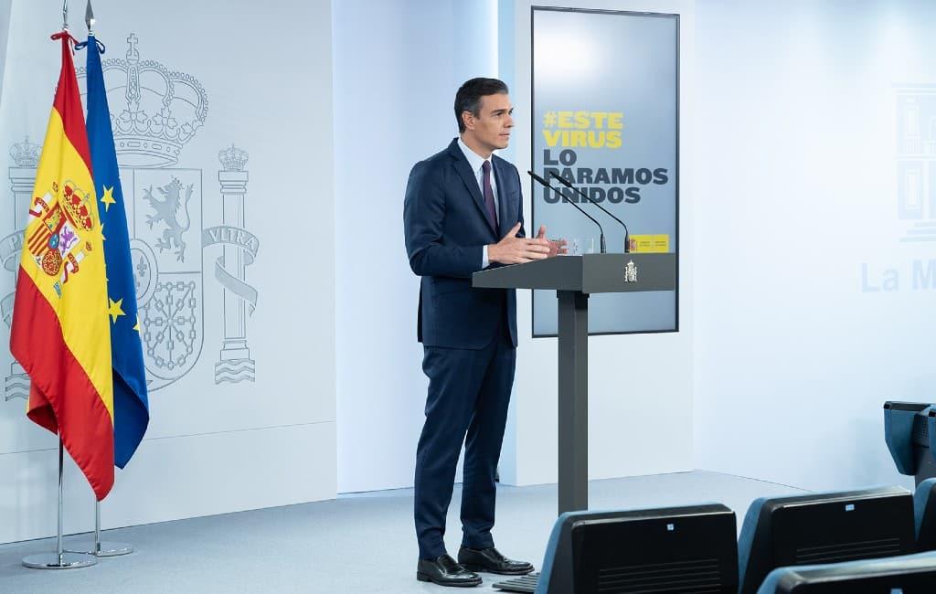 Toespraak premier Sánchez over de ernst van de corona-situatie in Spanje