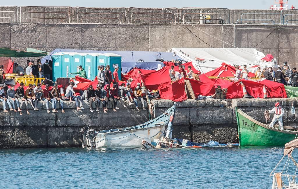 Tijdelijke migranten-kamp op Gran Canaria ontruimt