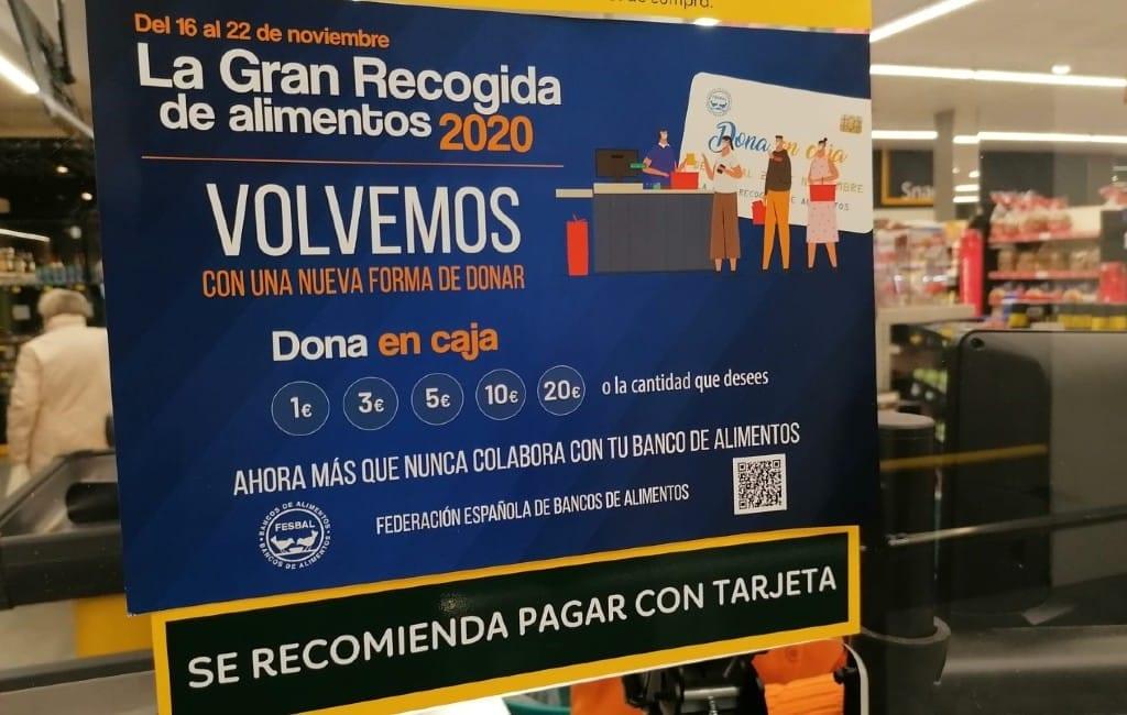 Geen normale 'Gran Recogida' in Spaanse supermarkten voor de voedselbanken
