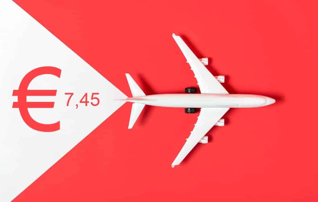 Nederlandse vliegtaks voor vluchten naar o.a. Spanje wordt 7,45 euro