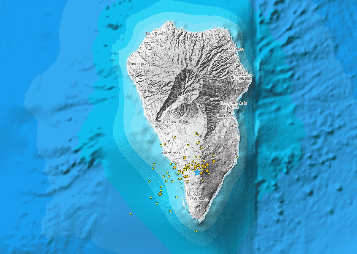 281 kleine aardbevingen bij vulkaan op Canarische Eiland la Palma