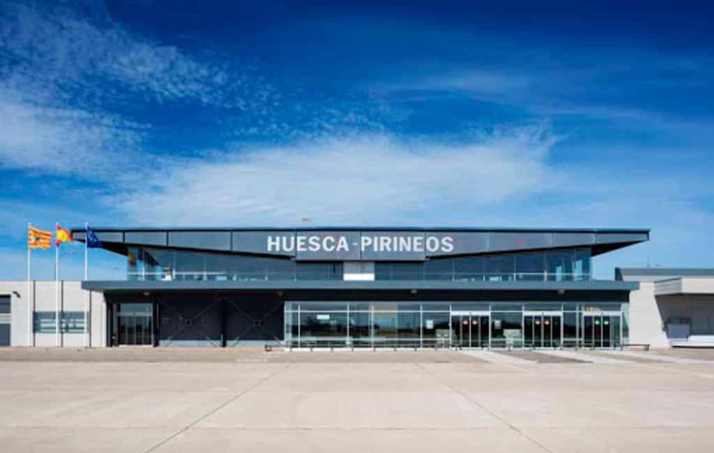 Vliegveld Huesca ziet aantal passagiers met 8.000% stijgen in oktober