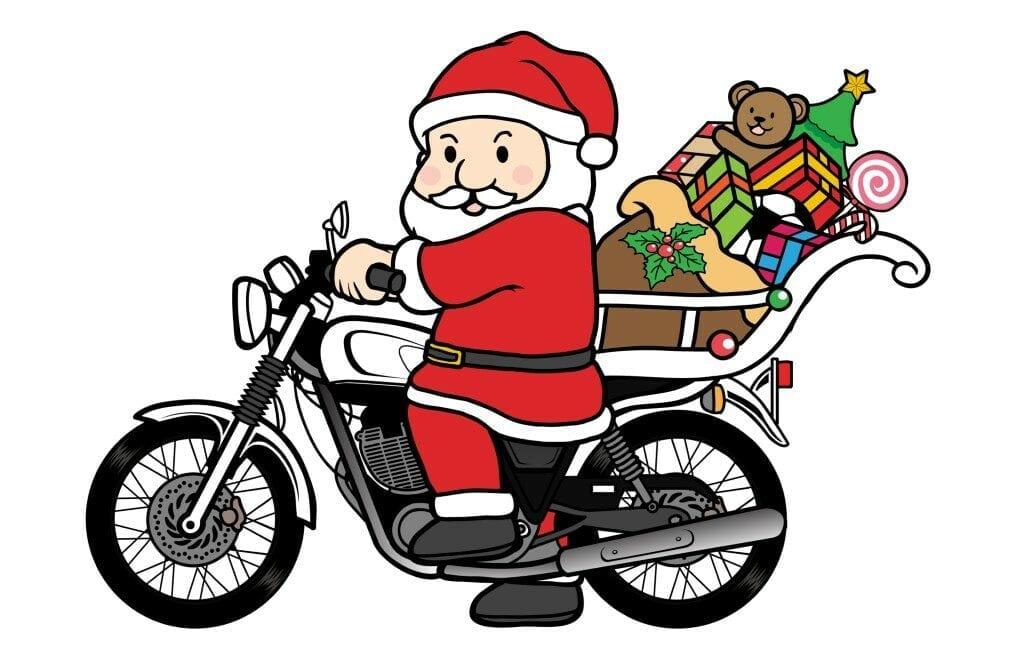 Stel dat de Kerstman zijn kerstnacht-ronde doet in een auto, camper of op de motor
