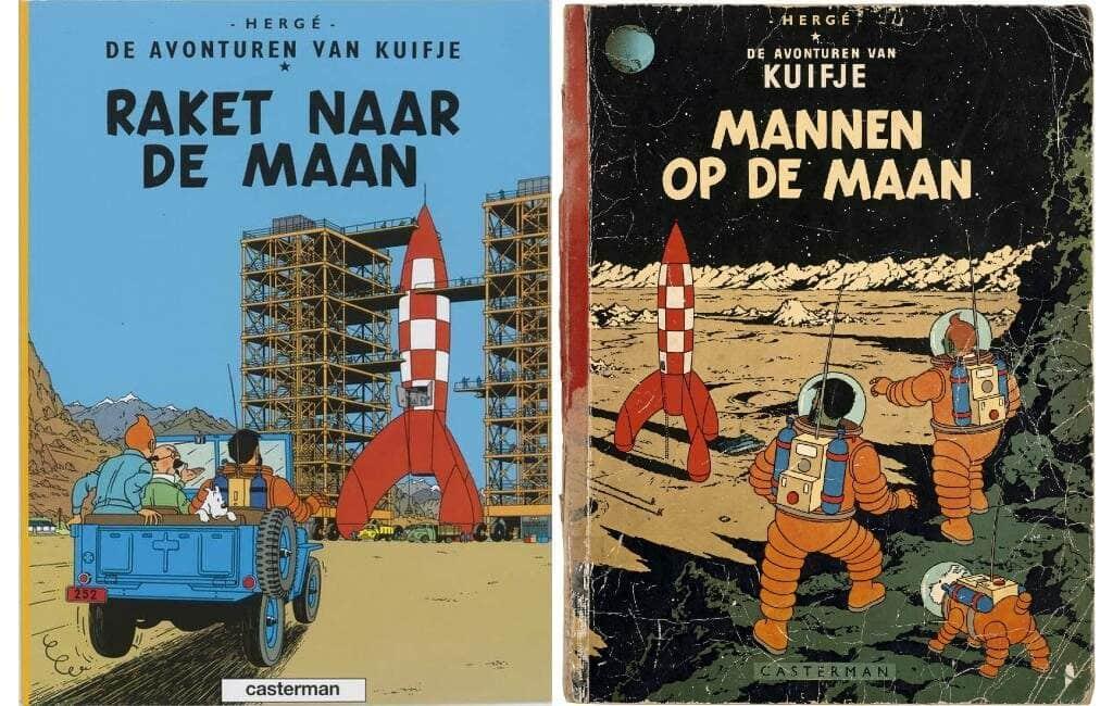 Kuifje's maan-avonturen zijn vertaald in 7 Spaanse talen/dialecten