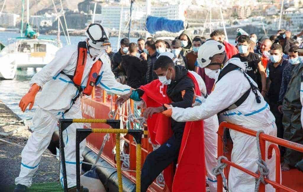 Aankomst migranten op de Canarische Eilanden neemt af
