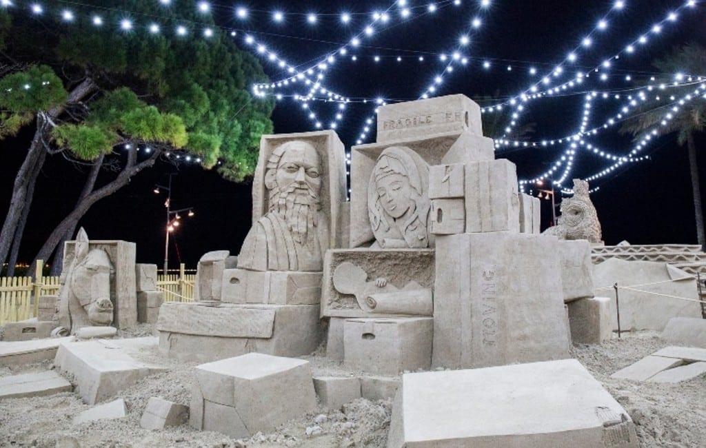 Zandsculpturen al 20 jaar met de kerst te bezoeken in La Pineda Platja