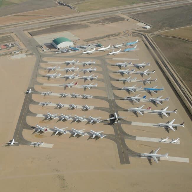 Vliegveld van Teruel grootste parkeerplaats vliegtuigen van Europa