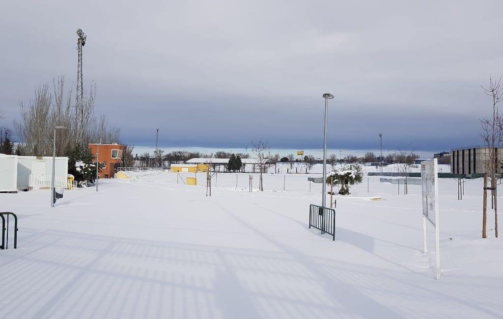Kinderen tot 18 januari vanwege de sneeuwval niet naar school in Madrid