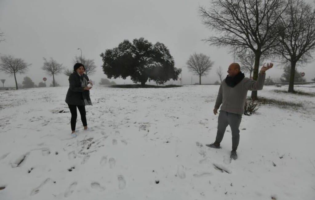 15 cm sneeuw in de provincie Alicante met oranje weeralarm voor de Marina Baja
