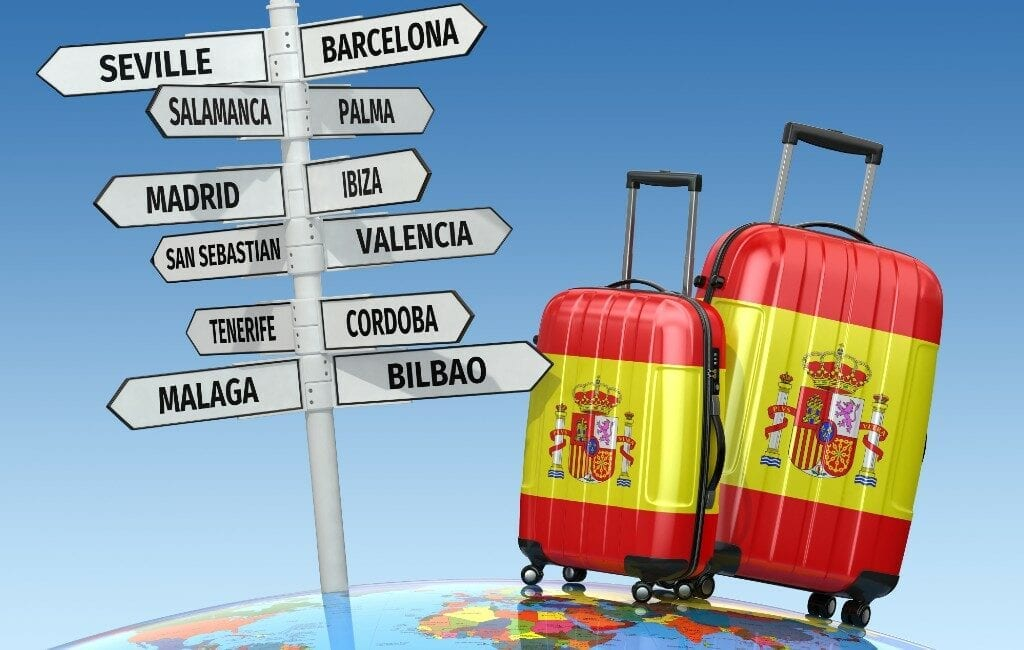 Circa 61 tot 65 miljoen buitenlandse toeristen minder in 2020 in Spanje