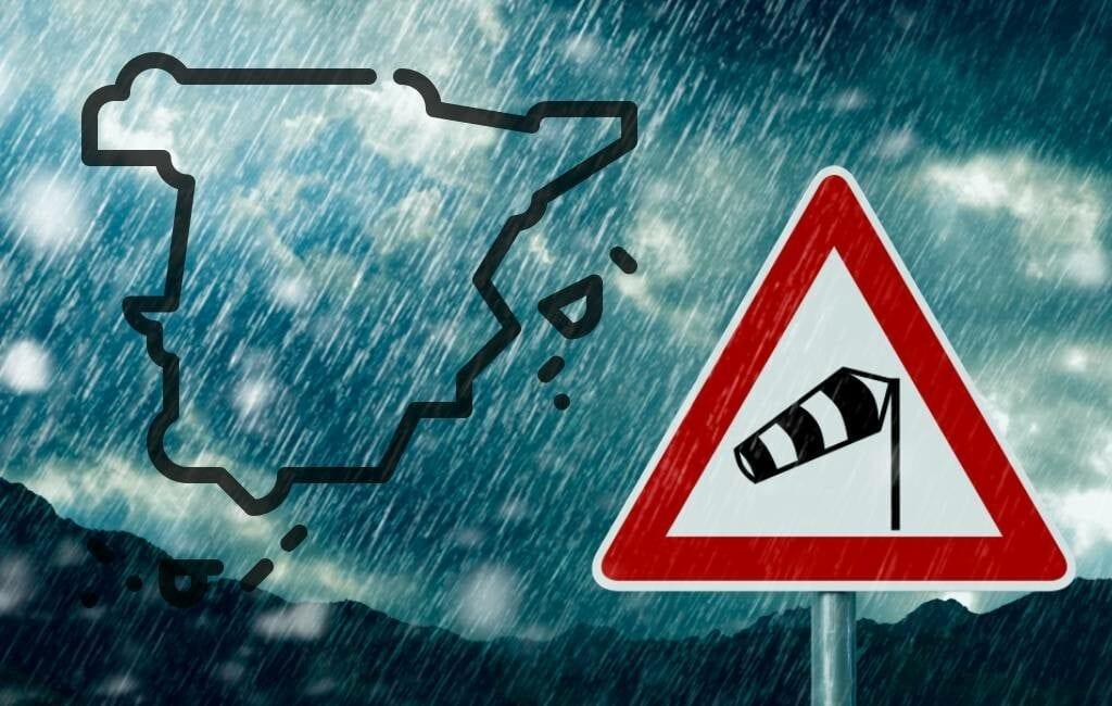Storm Hortense raast met enorme windsnelheden over Spanje