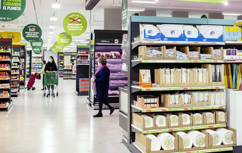 Mercadona haalt al het plastic voor eenmalig gebruik uit de supermarkten