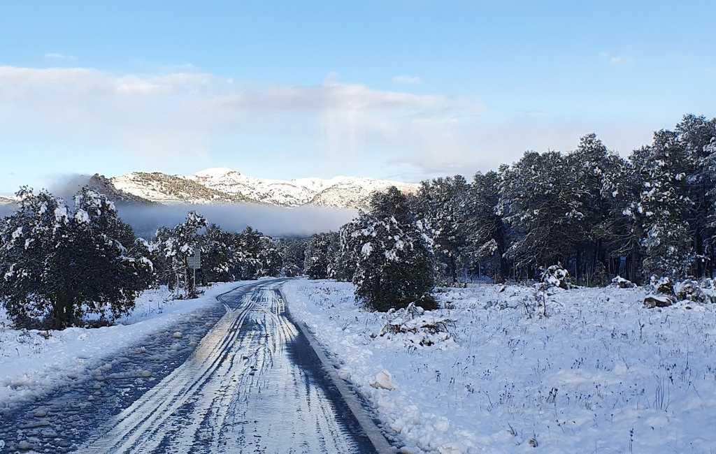 Binnenland provincies Alicante en Valencia hebben te maken met sneeuw en verschillen van 20 graden