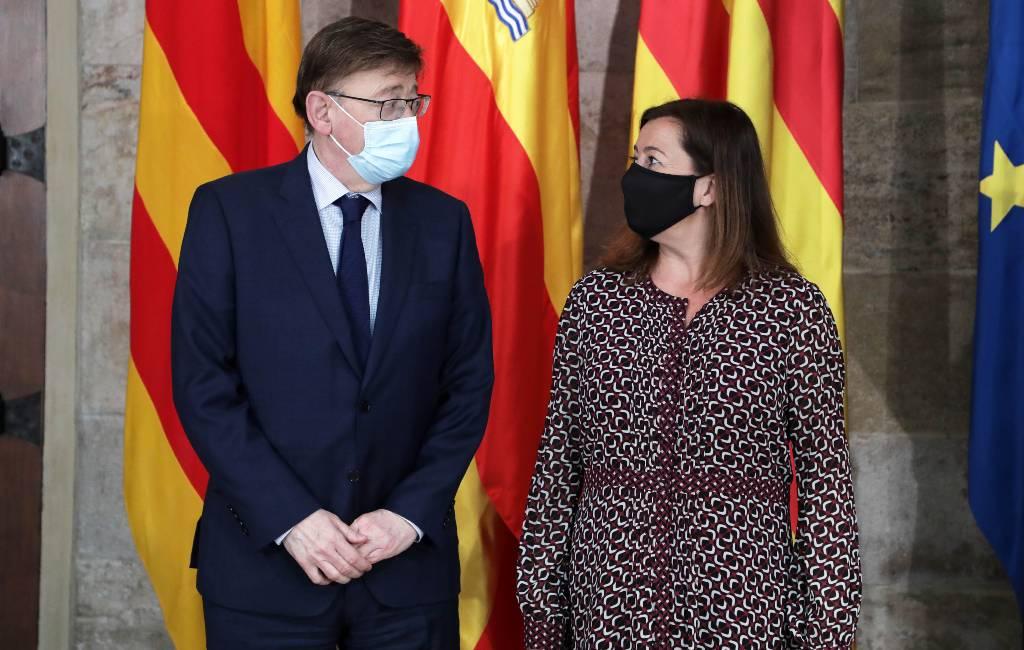 Valencia regio en Balearen vragen de EU om gratis vakantie PCR-tests