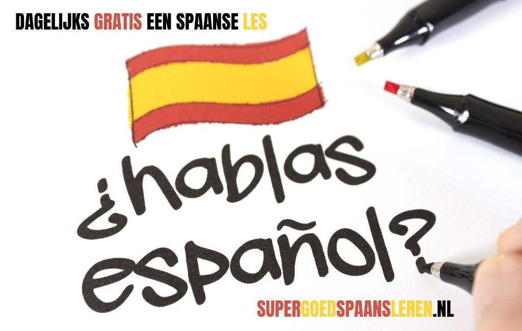 DOE MEE met onze gratis Spaanse lessen waarin we elke dag Spaanse woorden en zinnen plaatsen, uitleggen en beschrijven.