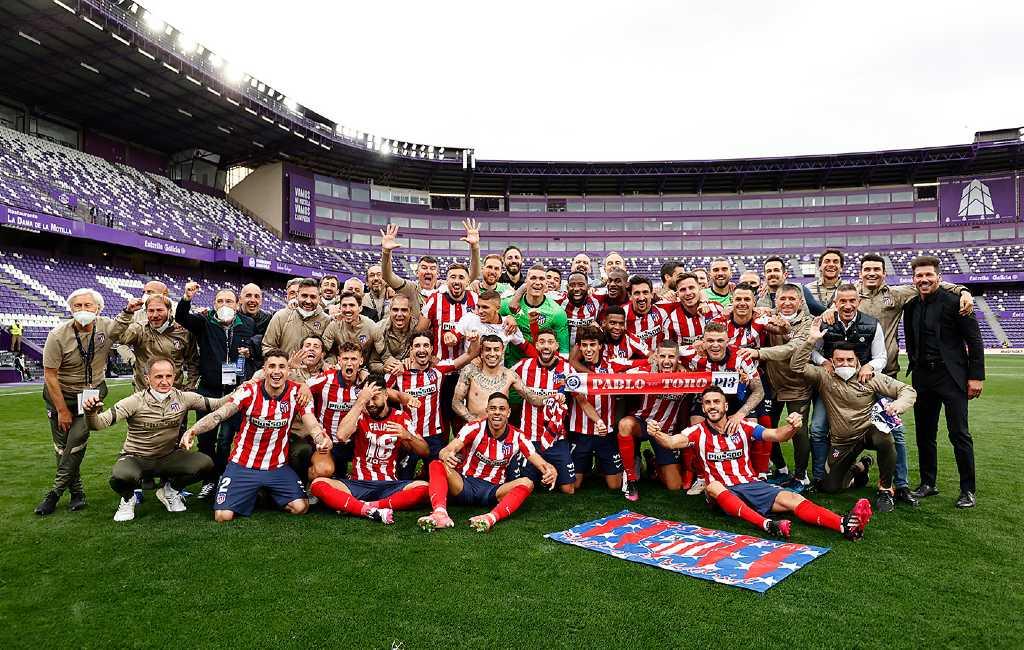 Atlético de Madrid wint voor elfde keer de La Liga voetbalcompetitie in Spanje