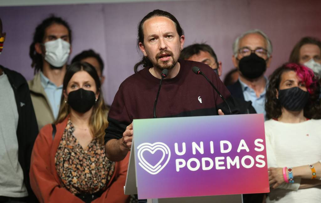 Podemos partijleider Pablo Iglesias stapt na verkiezings debacle Madrid uit de politiek