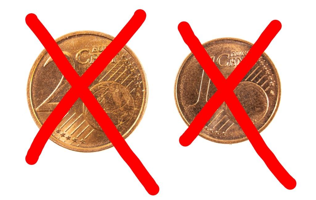 Meerderheid Europeanen wil af van de 1 en 2 cent munten die in Spanje nog wél gebruikt worden