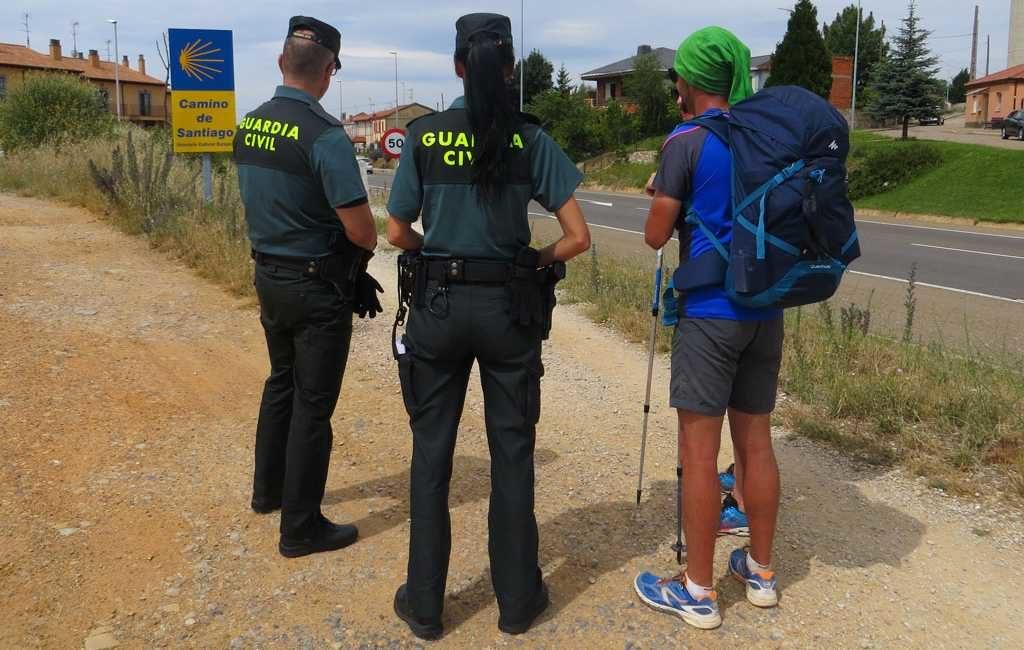 Circa 3.600 politieagenten surveilleren langs de Camino de Santiago in Spanje