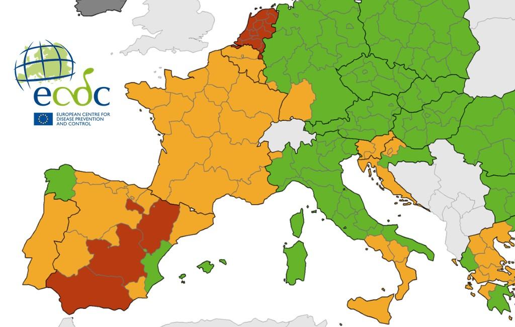 Nieuwe corona-kaart Europees Centrum voor ziektepreventie: wat doen Nederland en België met hun reisadviezen?