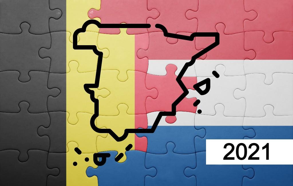 Overzicht van aantal Nederlanders en Belgen dat in Spanje woont (2021)
