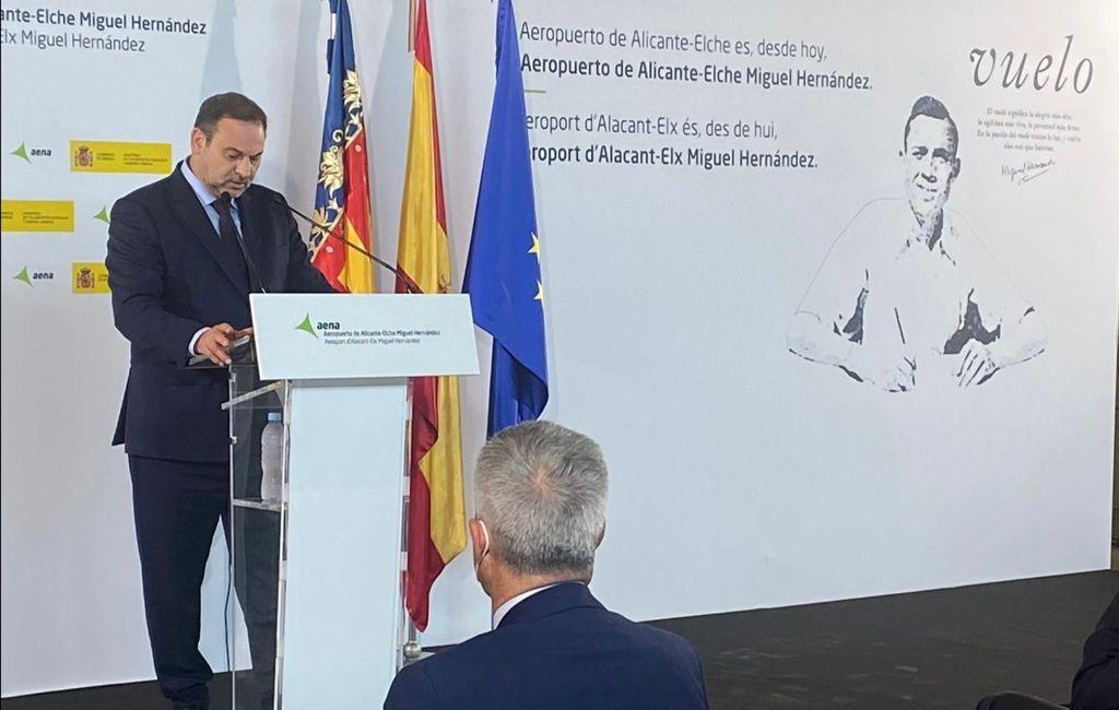 Vliegveld Costa Blanca heet vanaf nu officieel Alicante-Elche Miguel Hernández