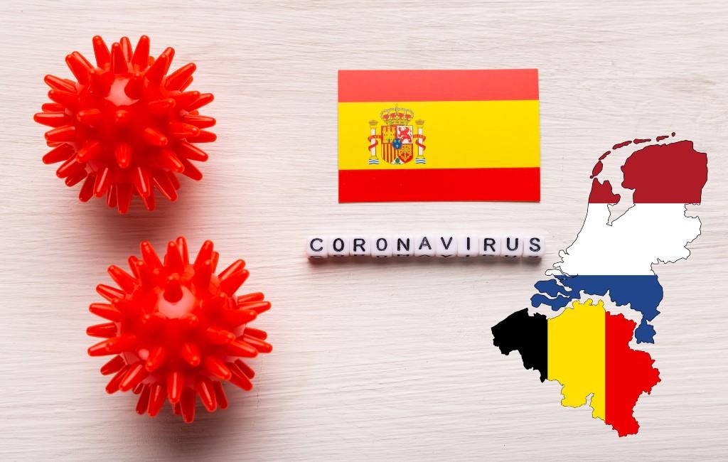 Overzicht actuele kleurcodes en reisadviezen Nederland en België voor Spanje