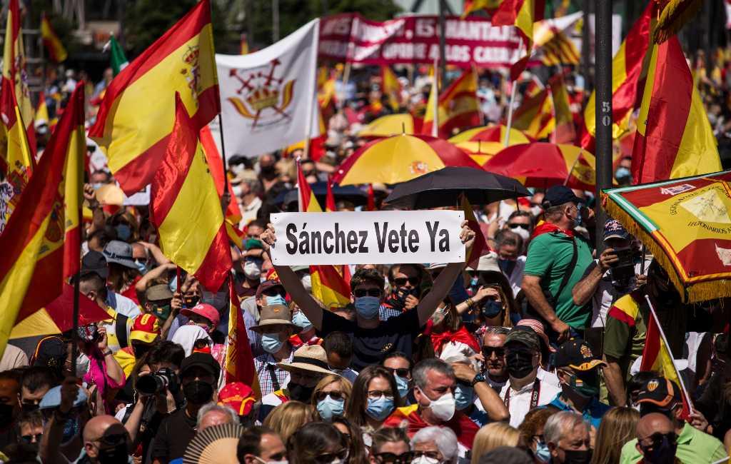 Rechts en extreemrechts bij protest in Madrid om gratie Catalaanse politici te stoppen