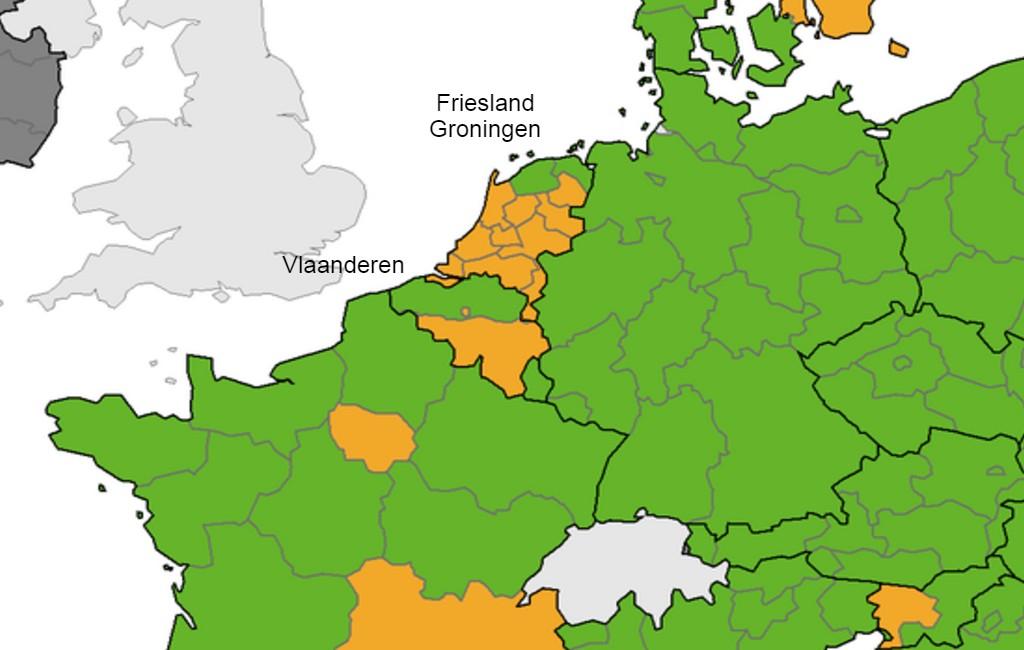 Vlamingen, Friezen en Groningers kunnen in theorie naar Spanje reizen zonder test- of vaccinatiecertificaat