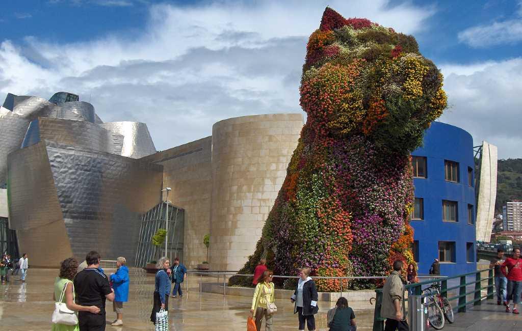 Crowdfunding om de 'puppy' van het Guggenheim in Bilbao te restaureren