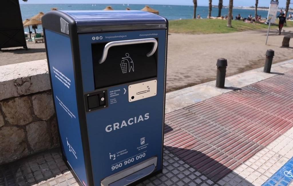 Málaga krijgt op zonne-energie werkende afvalcontainers