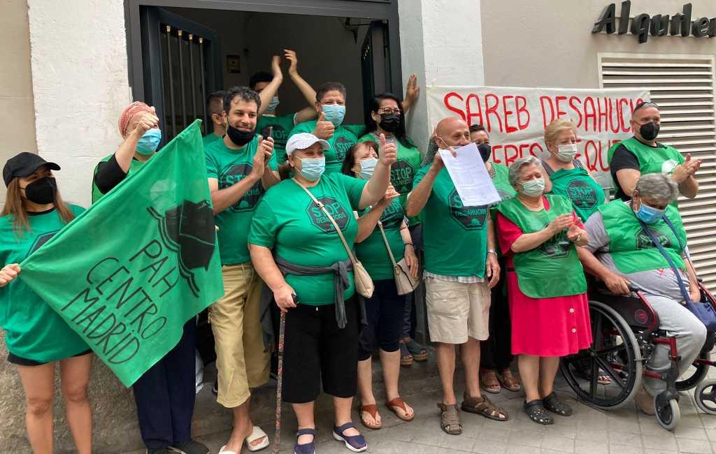 17 families dreigen uit hun huis te worden gezet in Madrid