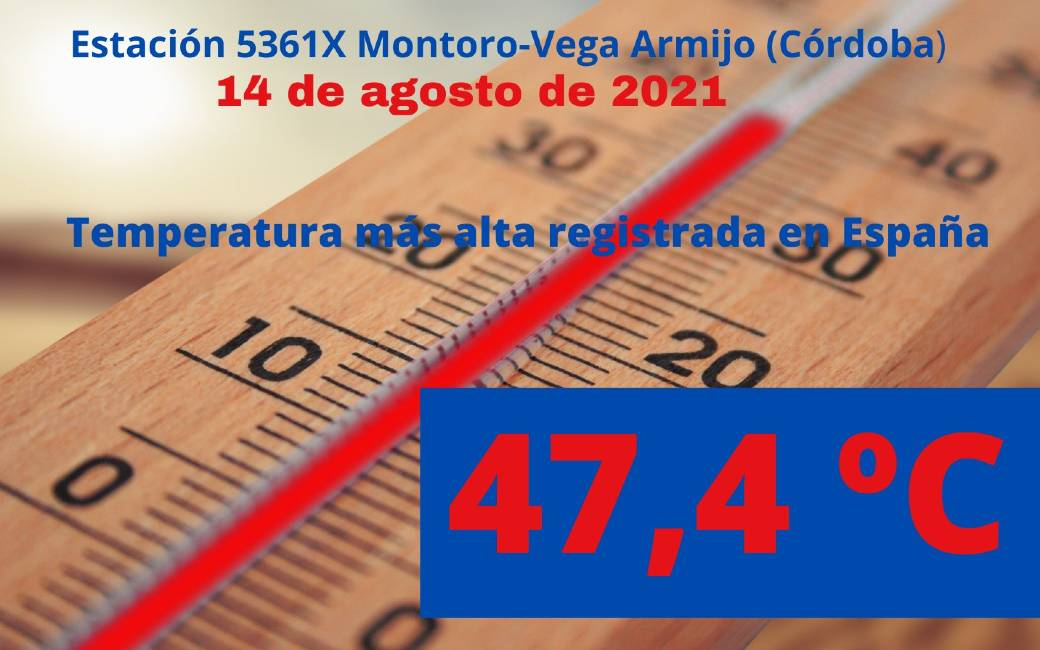 Nieuw hitterecord in Spanje met als hoogst gemeten 47,4 graden in Córdoba