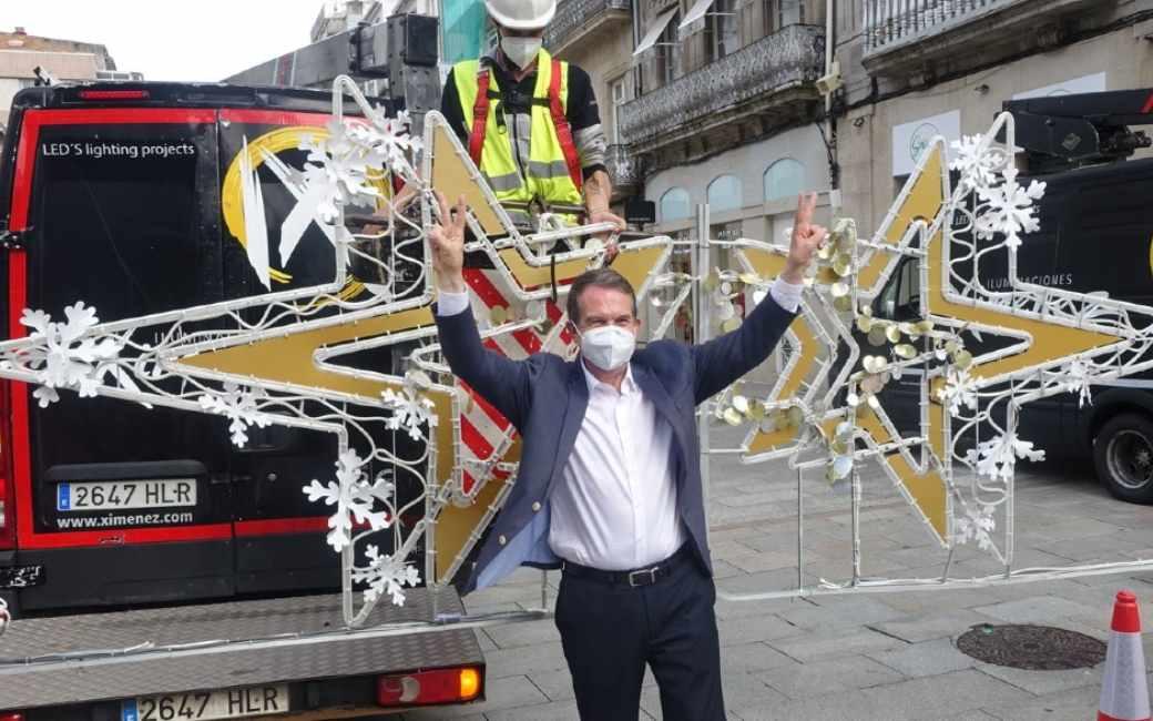 Galicische stad Vigo nu al begonnen met kerstverlichting voorbereidingen