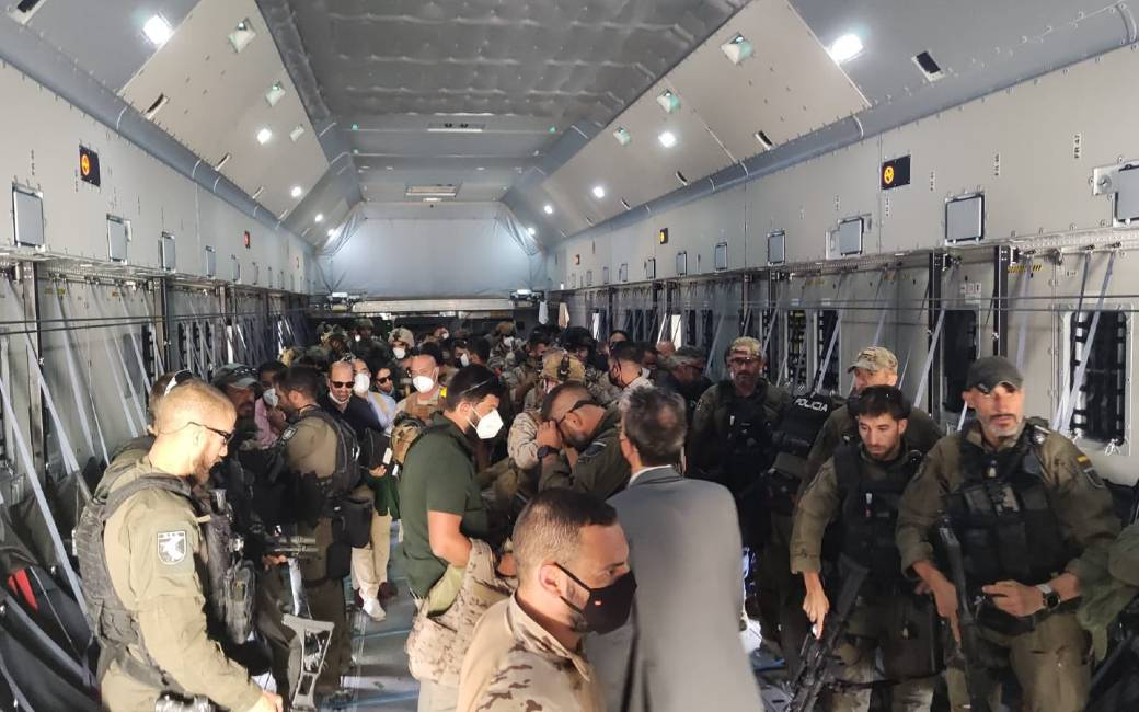Ook Spanje beëindigd evacuatie Spanjaarden en Afghanen uit Kabul
