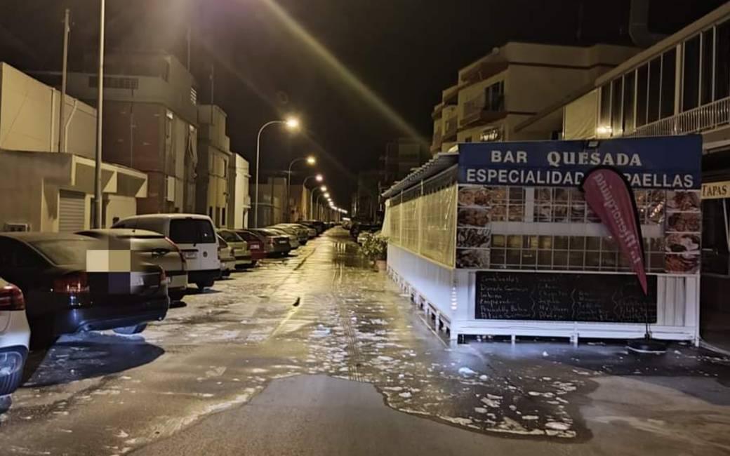 Snelle stijging zeeniveau zorgt voor meteo-tsunami in Santa Pola