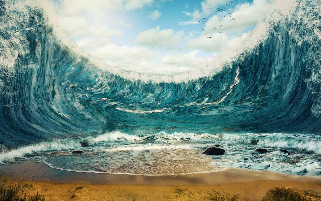 Canarische Eilanden hebben te maken gehad met tsunami's en golven van 290 meter